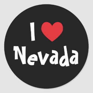 I Love Nevada Classic Round Sticker