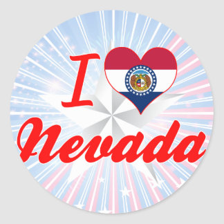 I Love Nevada, Missouri Round Stickers