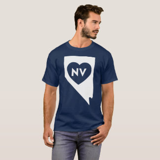 I Love Nevada State Men's Basic Dark T-Shirt