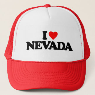 I LOVE NEVADA TRUCKER HAT