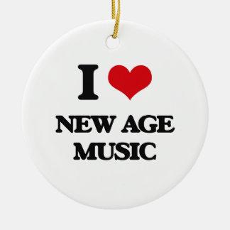 I Love NEW AGE MUSIC Christmas Ornament