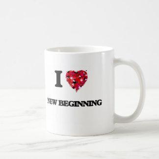 I Love New Beginning Basic White Mug