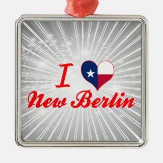I Love New Berlin, Texas Christmas Ornaments