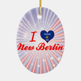 I Love New Berlin, Wisconsin Christmas Ornaments