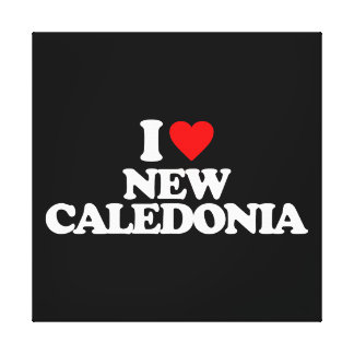 I LOVE NEW CALEDONIA STRETCHED CANVAS PRINT