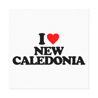 I LOVE NEW CALEDONIA GALLERY WRAPPED CANVAS