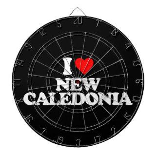I LOVE NEW CALEDONIA DART BOARD