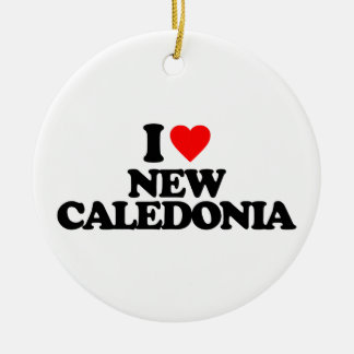 I LOVE NEW CALEDONIA CHRISTMAS ORNAMENT