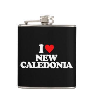 I LOVE NEW CALEDONIA HIP FLASK