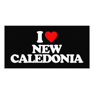 I LOVE NEW CALEDONIA CUSTOM PHOTO CARD