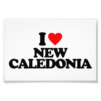 I LOVE NEW CALEDONIA ART PHOTO