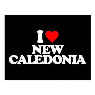 I LOVE NEW CALEDONIA POSTCARD