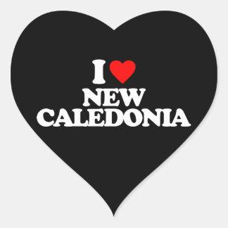 I LOVE NEW CALEDONIA HEART STICKERS