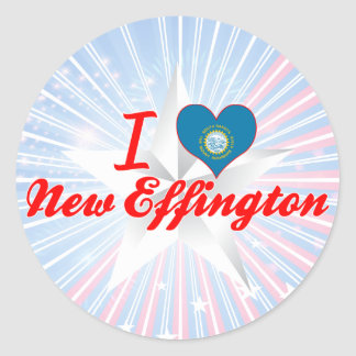 I Love New Effington, South Dakota Classic Round Sticker