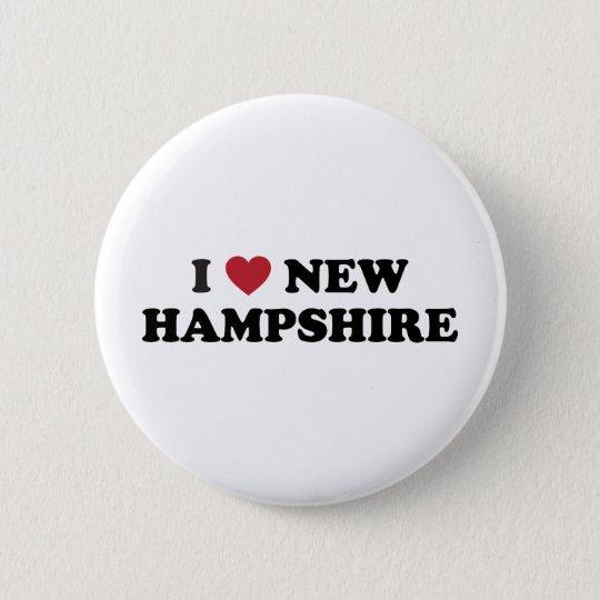 I Love New Hampshire 6 Cm Round Badge