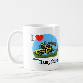 I Love New Hampshire Country Taxi Basic White Mug