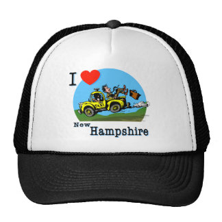 I Love New Hampshire Country Taxi Cap