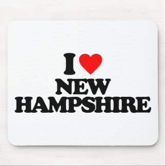 I LOVE NEW HAMPSHIRE MOUSE PADS