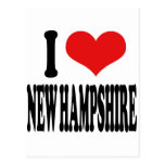 I Love New Hampshire Post Cards