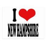 I Love New Hampshire Postcard
