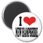I Love New Hampshire Refrigerator Magnets