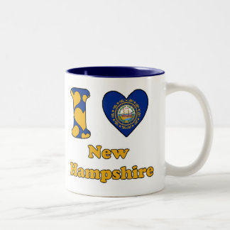 I love New Hampshire Two-Tone Coffee Mug