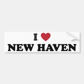 I Love New Haven Connecticut Bumper Sticker