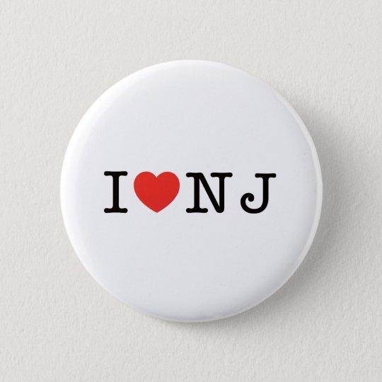 I LOVE New Jersey 6 Cm Round Badge