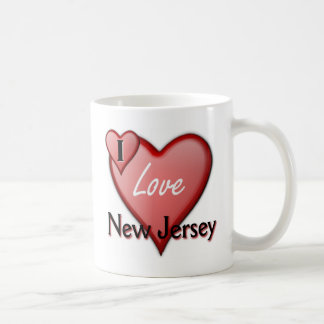 I Love New Jersey Basic White Mug