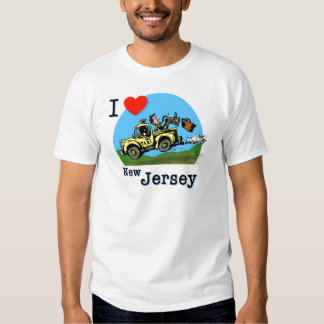 I Love New Jersey Country Taxi Tshirt