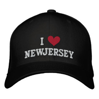 I LOVE NEW JERSEY EMBROIDERED CAP
