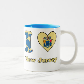 I love New Jersey Two-Tone Mug