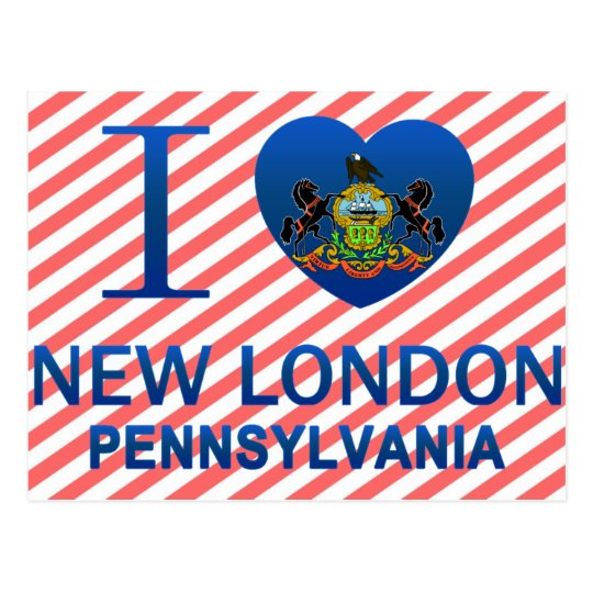 I Love New London, PA Postcard