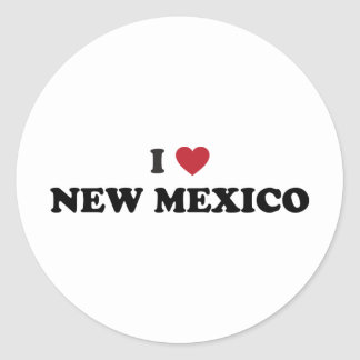 I Love New Mexico Classic Round Sticker