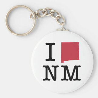 I Love new Mexico Basic Round Button Key Ring