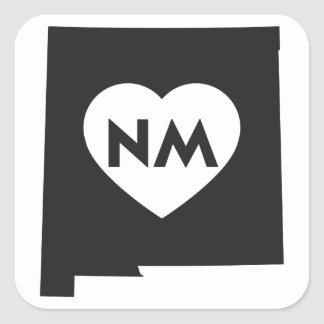 I Love New Mexico State Square Stickers