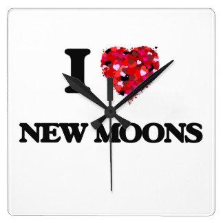 I Love New Moons Wall Clocks