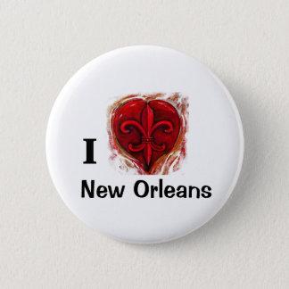 I Love New Orleans 6 Cm Round Badge