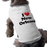 I Love New Orleans Dog Tee