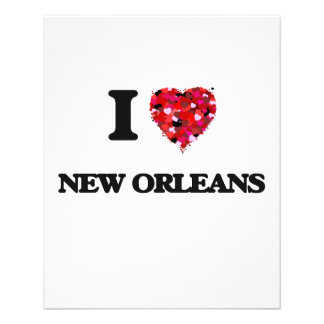 I love New Orleans Louisiana 11.5 Cm X 14 Cm Flyer