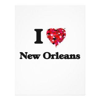 I love New Orleans Louisiana 21.5 Cm X 28 Cm Flyer