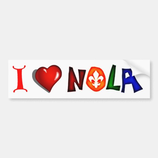 I LOVE NEW ORLEANS LOUISIANA BUMPER STICKER