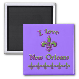I Love New Orleans T shirts, Mugs, Buttons Square Magnet