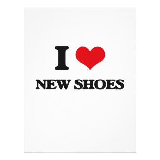I love New Shoes 21.5 Cm X 28 Cm Flyer