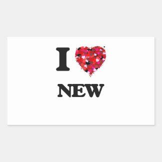 I Love New Rectangular Sticker