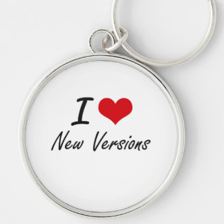 I love New Versions Silver-Colored Round Key Ring
