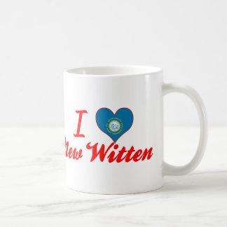 I Love New Witten, South Dakota Basic White Mug