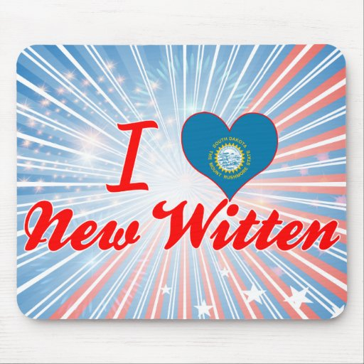 I Love New Witten, South Dakota Mouse Pads