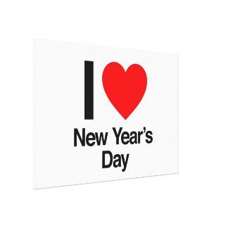 i love new year's day stretched canvas print