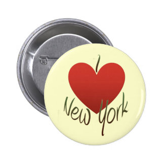 I Love New York 6 Cm Round Badge